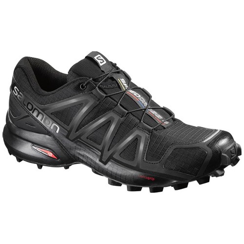 Salomon Speedcross 4 Sepatu Running Wanita - Black/Black/Black Metal