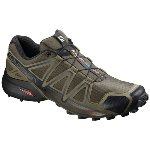 Salomon Speedcross 4 Sepatu Running Pria - Grape Leaf/Burnt Olive