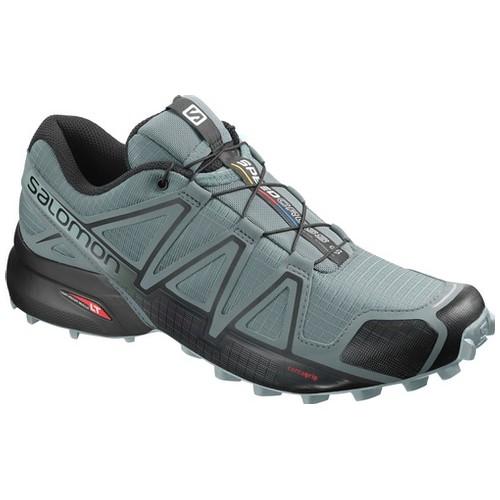 Salomon Speedcross 4 Sepatu Running Pria - Stormy Weather/Black/Stormy