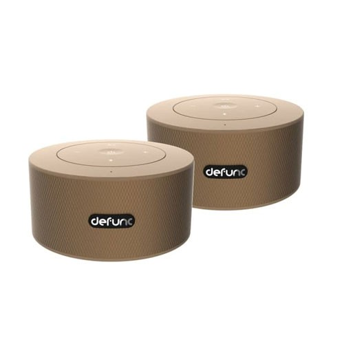 Defunc Duo Stereo Bluetooth Speaker  - Gold