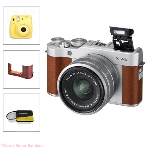 Fujifilm Mirrorless Camera X-A5 kit 15-45mm - Brown