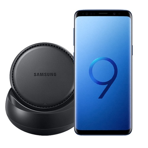 Samsung Galaxy S9 Coral Blue + Samsung DeX Station