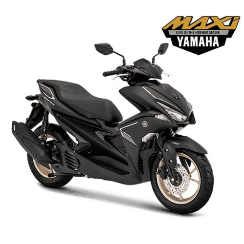 Yamaha Sepeda Motor Aerox 155 VVA S-Version - Matte Black (Bekasi & Depok)