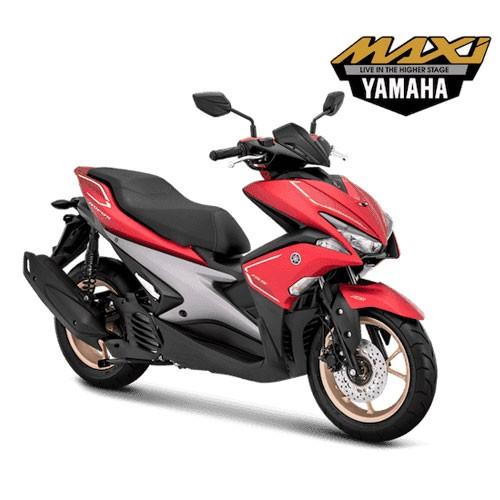 Yamaha Sepeda Motor Aerox 155 VVA S-Version - Matte Red (Bekasi & Depok)