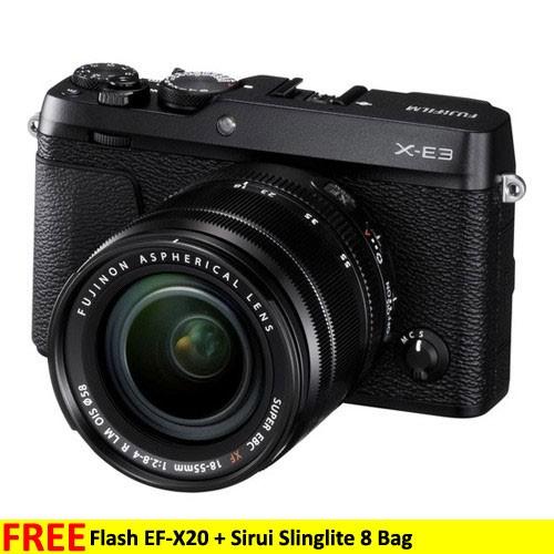 Fujifilm Mirrorless Digital Camera X-E3 KIT XF18-55MM - Black