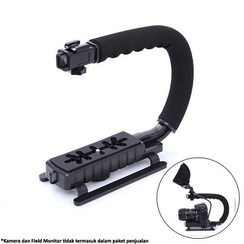Camera Stabilizer Grip Video Handle C Shape - XT-375 - Black