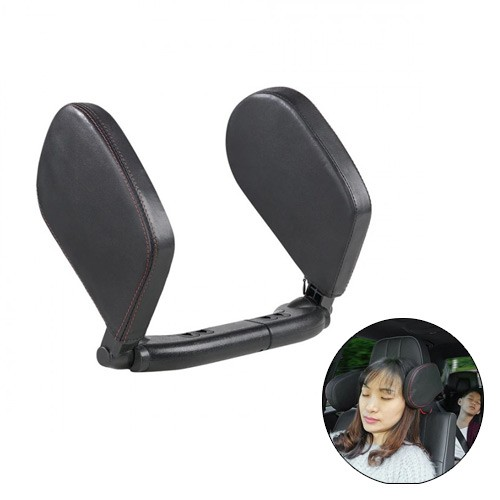 Leather Travel Adjustable Car Seat Headrest Neck Side Cushion