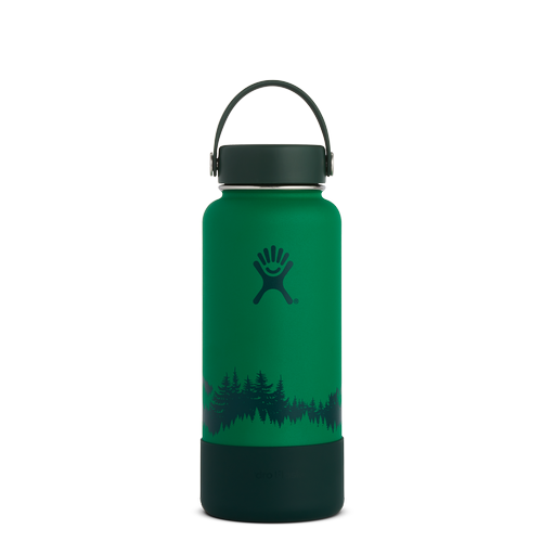 Hydro Flask Wide Mouth w/Flexcap Boot (32Oz) - Forest