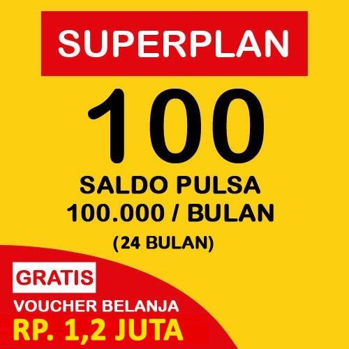 Indosat Super Plan 100 (24 Bulan) - Starterpack