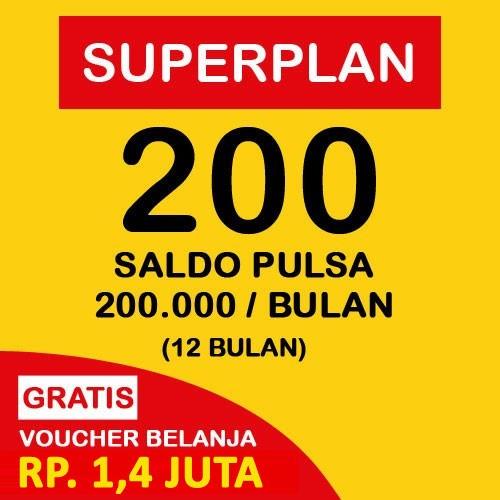 Indosat Super Plan 200 (12 Bulan) - Starterpack