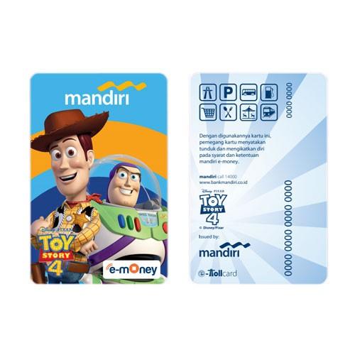 Mandiri eMoney Toy Story 4 - Woody, Buzz
