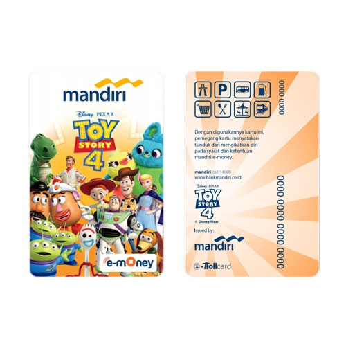 Mandiri eMoney Toy Story 4 - All Characters