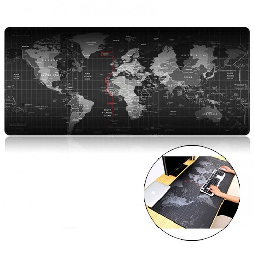 Anti Slip Extra Large Gaming Mouse Pad Old World Map