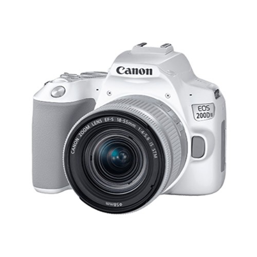 Canon EOS 200D II with Lens Kit EF-S 18-55mm - White