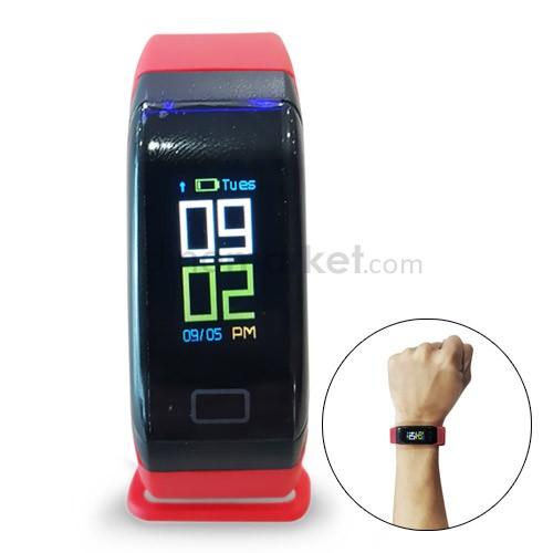Wearfit Blood Pressure Oxygen Monitor Smart Bracelet Fitness Tracker (New Edition) - Red