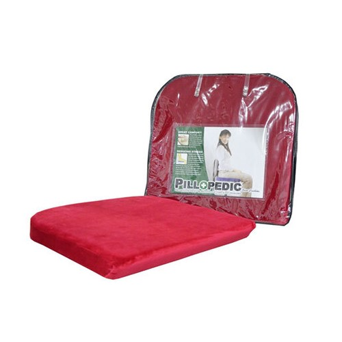 Willow Pillopedic Seat Cushion Memory Foam Red