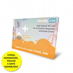 Travelsim Card China & Hong