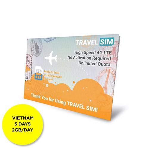 Travelsim Card Vietnam 5 Days (2GB/Day)