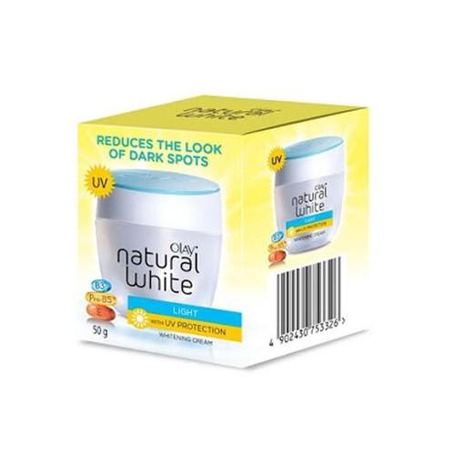 Olay Krim Pencerah Natural White Light UV Protection - 50g