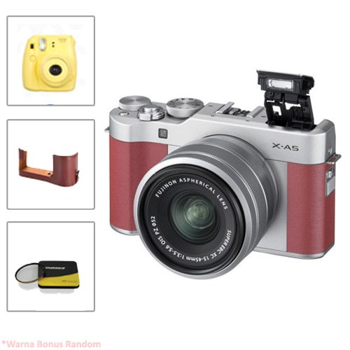 Fujifilm Mirrorless Camera X-A5 kit 15-45mm - Pink