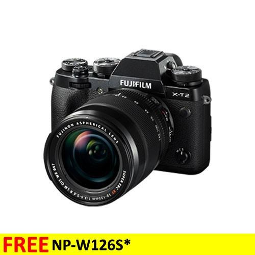 Fujifilm Mirrorless Digital Camera X-T2 with XF18-55mm Lens  - Black