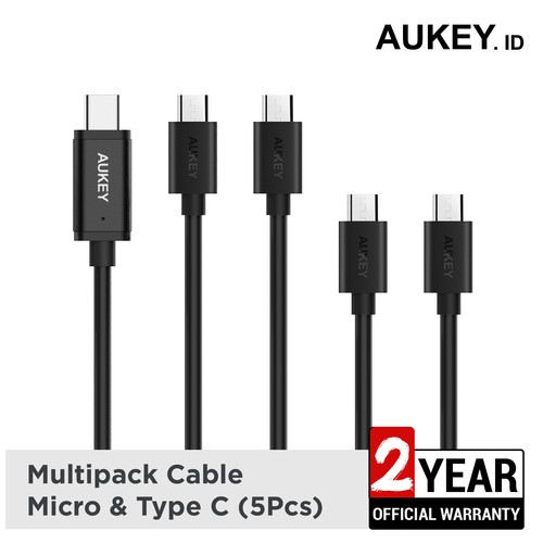 Aukey Cable Micro & USB C 2.0 (5Pcs) - 500260
