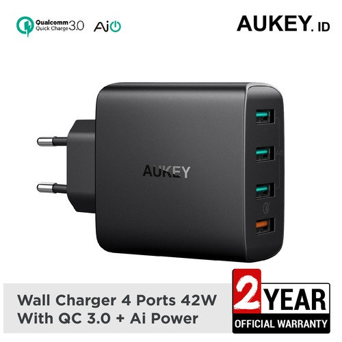 Aukey Charger 4 Ports 18W QC 3.0 & AiQ - 500225