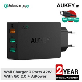 Aukey Charger 3 Ports 42W Q