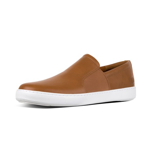 Fitflop Collins Slip On Men Shoes - Light Tan