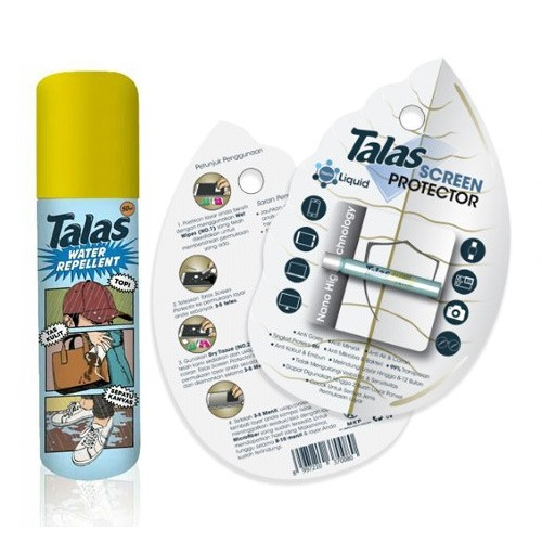 Talas Screen Protector 2ml Bundling Talas Water Repellent 50ml