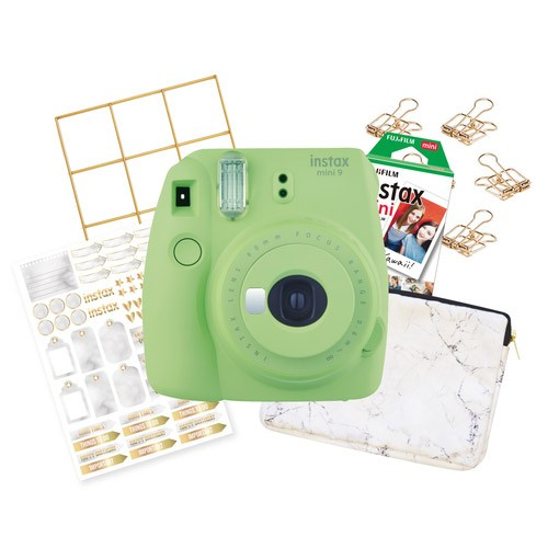 FujiFilm Instax Mini 9 Marble Package - Lime Green