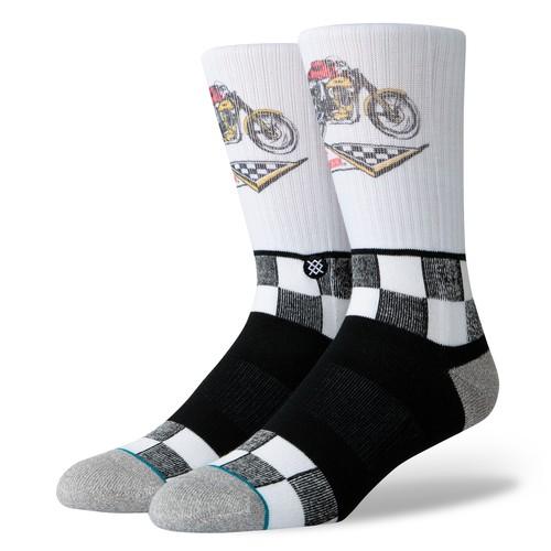 Stance Harley Racer (Socks) - White (Accessories)