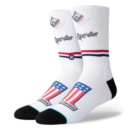 Stance Harley Slick (Socks) - White (Accessories)