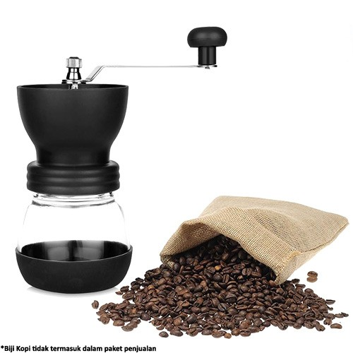 Alat Penggiling Kopi Manual Coffee Grinder - Black
