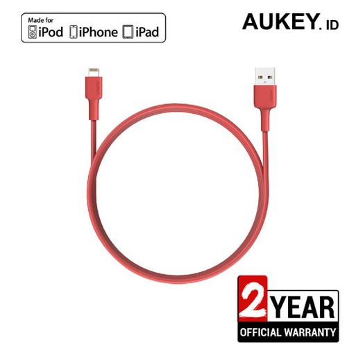 Aukey Cable MFi USB-A to Lightning 2m - Red 500356