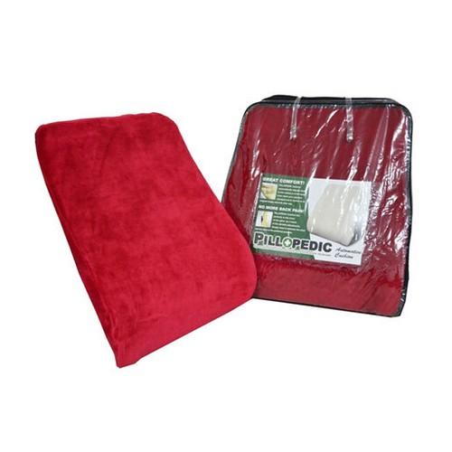 Willow Pillopedic Automotive Cushion Memory Foam - Red