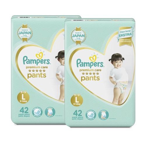 Pampers Popok Celana Premium Care L - 42 - Paket isi 2