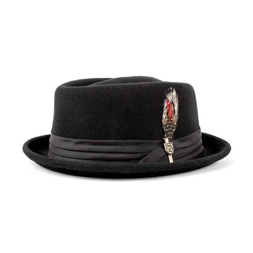 Brixton Stout Pork Pie (Fedora) - Black (Headwear)
