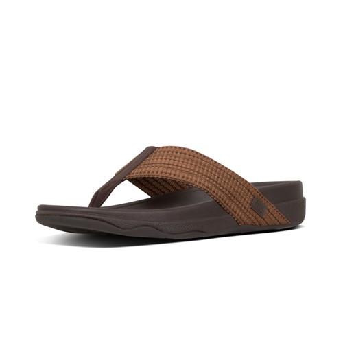 Fitflop Surfer Freshweave Men Sandal - Chocolate Brown