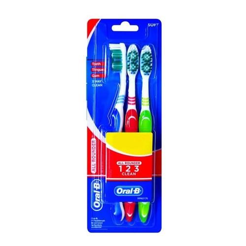 Oral-B Sikat Gigi 123 Soft 3s