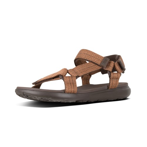 Fitflop Trailstar Freshweave Men Sandal - Chocolate Brown