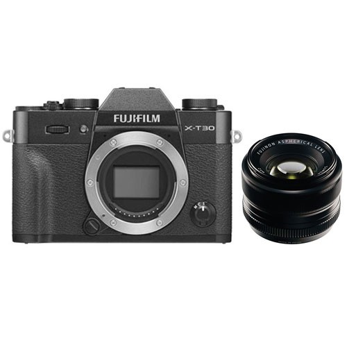 Fujifilm Mirrorless Digital Camera X-T30 with XF 35mm F1.4 Lens - Black