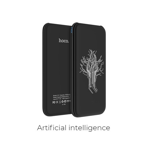 Hoco Power Bank Glowing Pattern with Dual USB Output 10.000mAh J10 - Art Intell