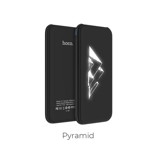 Hoco Power Bank Glowing Pattern with Dual USB Output 10.000mAh J10 - Pyramid