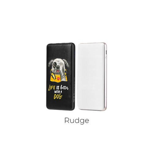 Hoco Power Bank Puppy LED Power Display with Dual USB Output 10.000mAh J13 - Black Rudge