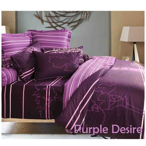 Rise Sprei Purple Desire size King (180X200X40) Match Salur