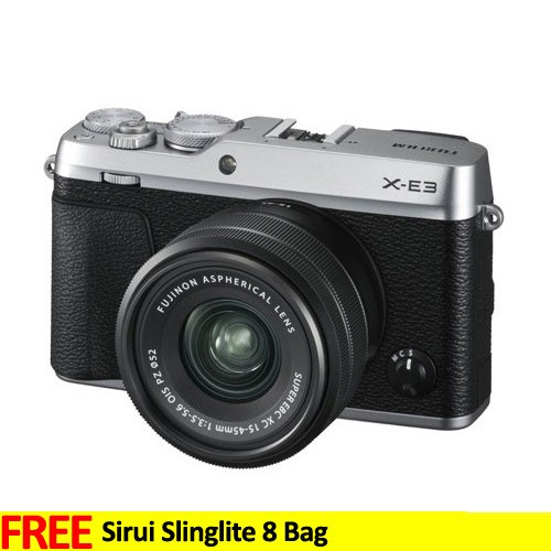 Fujifilm Mirrorless Digital Camera X-E3 with 15-45mm - Silver