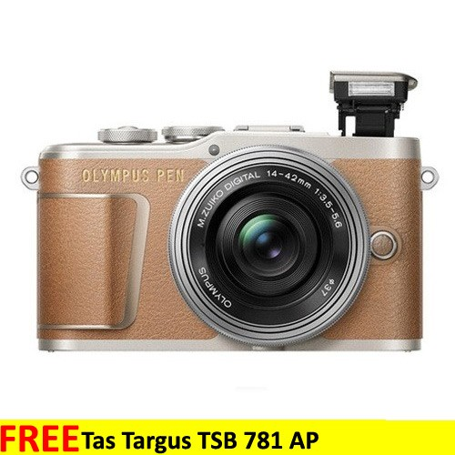 Olympus Pen E-PL9 Kit 14-42mm EZ - Brown + Free SDHC 32 GB