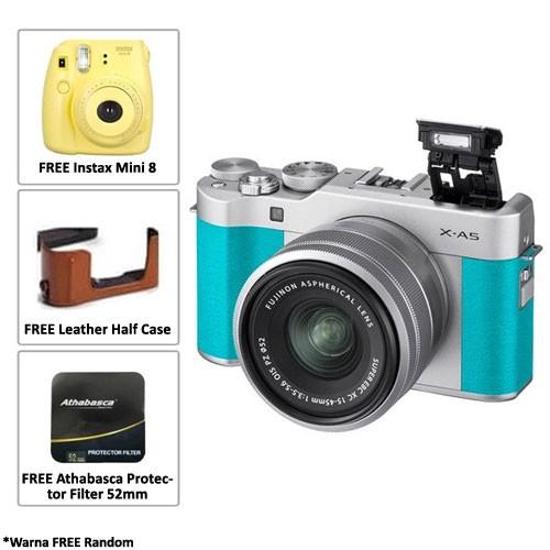 Fujifilm Mirrorless Camera X-A5 kit 15-45mm - Mint Green