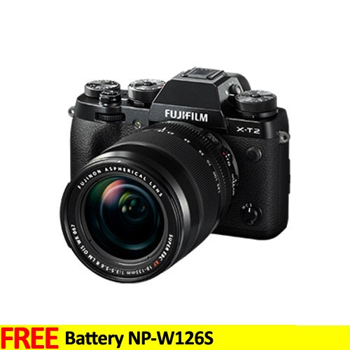 Fujifilm Mirrorless Digital Camera X-T2 with XF18-55mm Lens  - Black